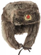 Sovjetisk/russisk Shapka vinterlue reproduksjon