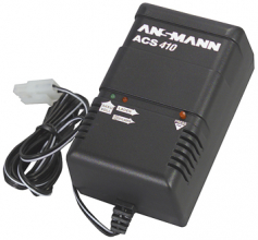 Ansmann ACS 410 lader for maks 12V batterier stor plugg 13943