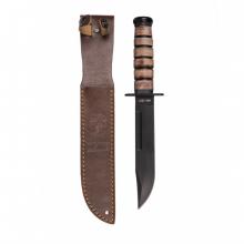 USMC kampkniv med lærslire
