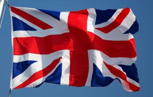 Fullstørrelse flagg fra Storbritannia (Union Jack) 150x90cm