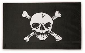 Sjørøverflagg Jolly Roger fullstørrelse 150x90cm