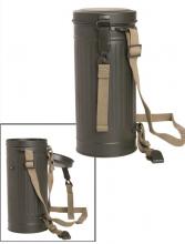 Gassmaskebeholder til tysk gassmaske fra 2.verdenskrig, nyprodusert