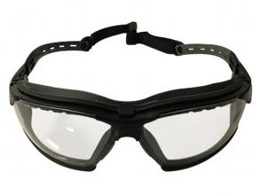 Strike Systems Comfort Tactical beskyttelsesbriller, klart glass, antidugg