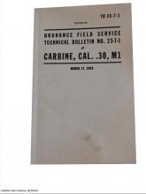 US M1 Carbine håndbok, opptrykk