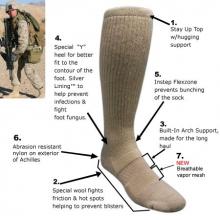 Covert Threads™ Sand Military Boot Sock olivengrønn str 36-41