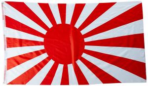 Fullstørrelse krigsflagg fra Japan fra 2.verdenskrig 150x90cm