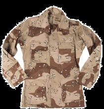 US Army BDU jakke 6-fargers ørkenkamo brukt