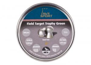 H&N Field Target Trophy Green blyfri 4,5mm 300 stk HN-9266450001