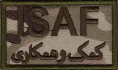 ISAF US Army stoffmerke i multicam kamo