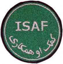 ISAF skuldermerke grønt fra Afghanistan