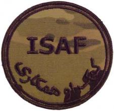 ISAF skuldermerke multicam fra Afghanistan rundt