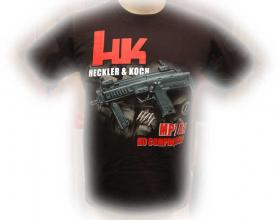 T-skjorte med HK MP7 svart str large