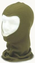 Forsvarets balaclava vendbar grønn/hvit brukt