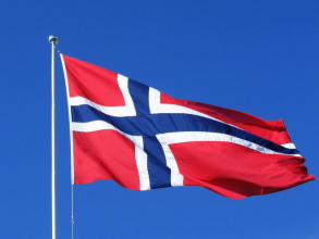 Norsk fullstørrelse flagg 90 x 150 cm