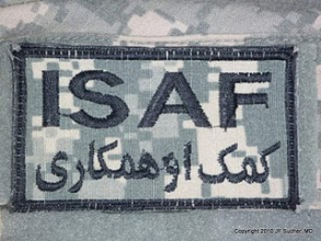 ISAF US Army stoffmerke i ACU farge original