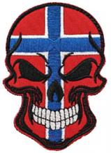 Norsk flagg/hodeskalle