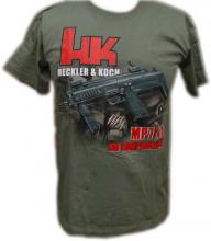 T-skjorte med HK MP7 grønn