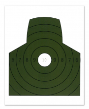 Militær type 1/3 figurskive 10-pakk