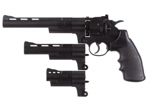 Crosman Triple Threat revolverkit med 3 løp BB/blykuler