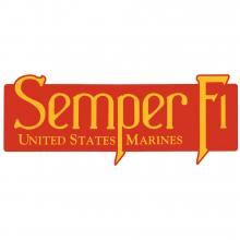 Semper Fi - United States Marine klistremerke