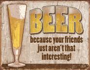 "Værbitt ""Beer Your Friend"" blikkskilt TSN1767"