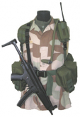 Combatkit 1-punkt geværreim Tactical MIII svart