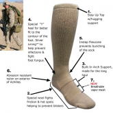 Covert Threads™ Sand Military Boot Sock olivengrønn str 36-41
