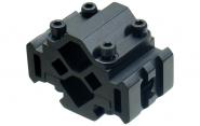 Leapers to-posisjoners montasje for løp/laser