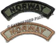 """""""Norway"""" skuldermerke for påsying buet"""