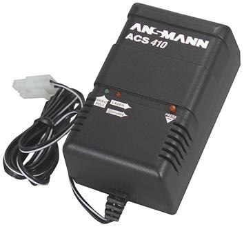 Ansmann ACS 410 lader for maks 12V batterier stor plugg 13943