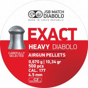 JSB Diabolo Exact Heavy 4,52mm 500stk