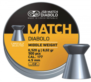 JSB Yellow Match middle weight 4,49mm 500stk