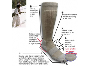 ICE – Extreme Cold Territory Military Sock coyote str 36-41