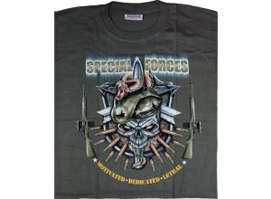 T-skjorte Special Forces grønn large