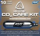 ASG ULTRAIR 12 gram CO2 Care Kit (9 vanlige patroner og 1 vedlikeholdspatron)