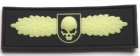 SOF Skull Badge 3D PVC Glow In The Dark (lyser i mørket)