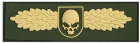 SOF Skull Badge 3D Patch OD/Gold