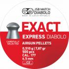 JSB Exact Express 4,52mm 500stk høyhastighet