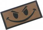 Camotech smiley-merke med borrelås grønt