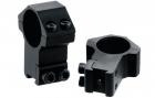 Leapers høy montasjesett 25,4mm (1 tomme) 11mm skinne