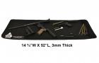 Leapers 37,5 X 132cm våpenpussmatte - svart