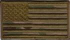US flagg i Multicam 7x3cm 8x4,75 cm borrelås
