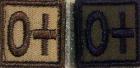 Camotech blodtypemerke 0+ ørkenfarget