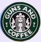 Guns and Coffee 3D PVC Patch