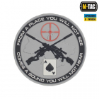 """Sniper """"From a place you will not see"""" i PVC grått"""