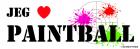 """""""Jeg elsker Paintball"""" klistremerke"""