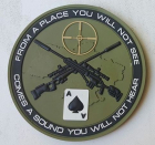 """Sniper """"From a place you will not see"""" i PVC grønt"""