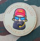 """""""Tactical Beard Owners Club"""" merke i PVC"""