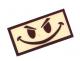 Camotech smiley-merke med borrelås ørken