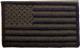 Amerikansk skulderflagg i svart/grønt 8x4,75 cm borrelås